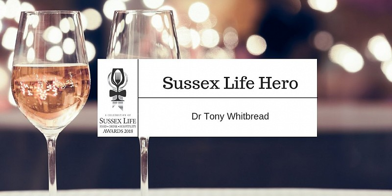 Dr Tony Whitbread wins the 2018 Sussex Life Hero Award