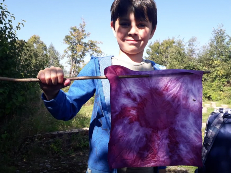 How to make Tie Dye flags