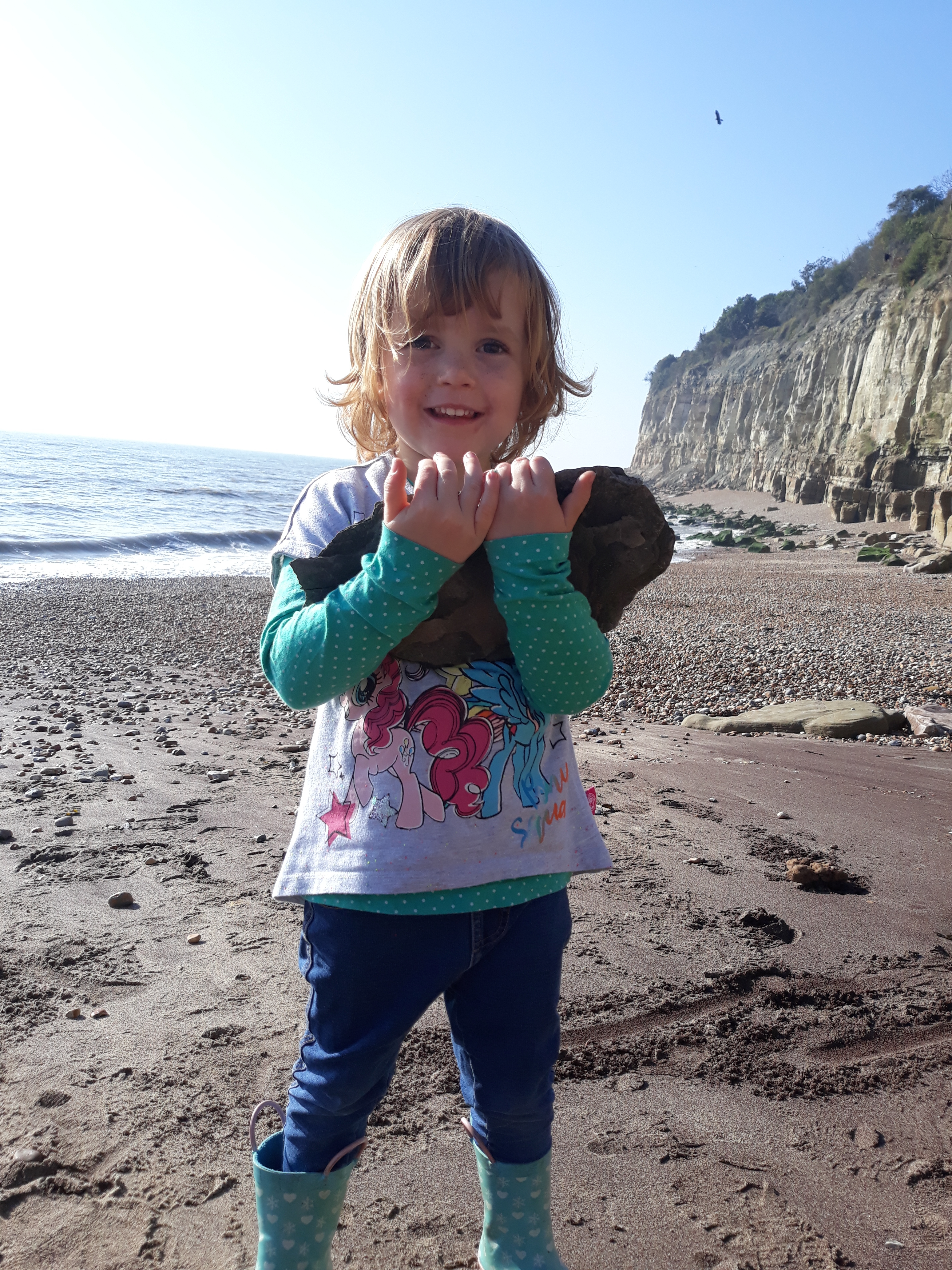 Stone collecting nature tots