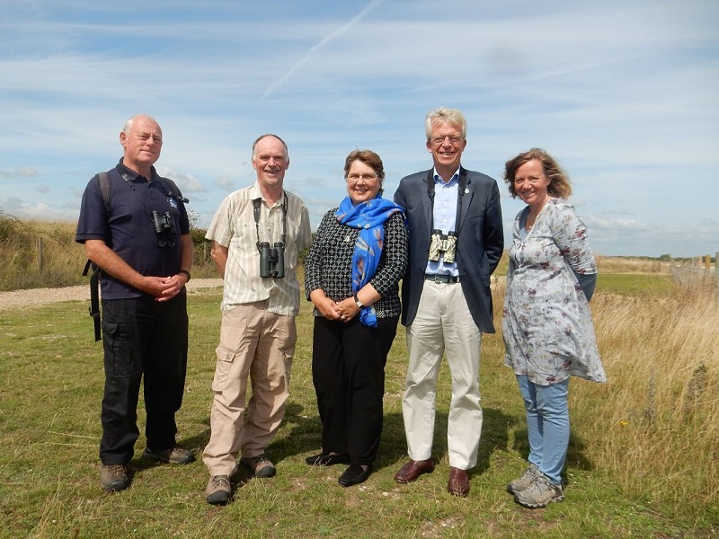 High Sheriff of East Sussex visits Rye Harbour Nature Reserve