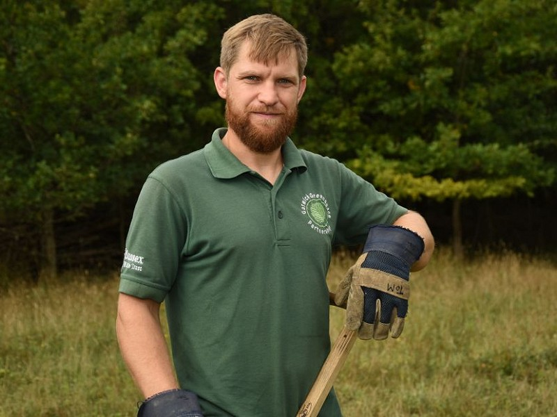 Tom Simpson of the Gatwick Greenspace Partnership wins Environment Award
