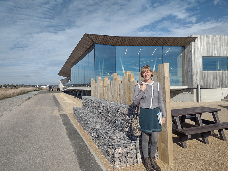Louise Kenward, writer in residence at Rye Harbour Nature Reserve