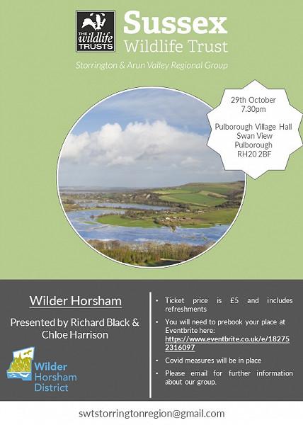 Wilder Horsham - Indoor Talk - 29th October 2021