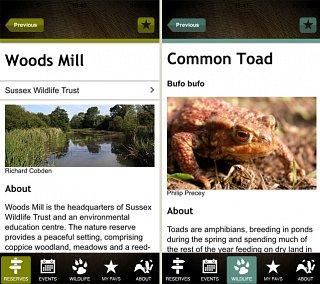 nature finder screenshots
