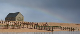 Rainbow over the lifeboat house