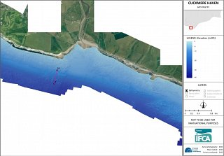 Bathymetry map of Cuckmere Haven
