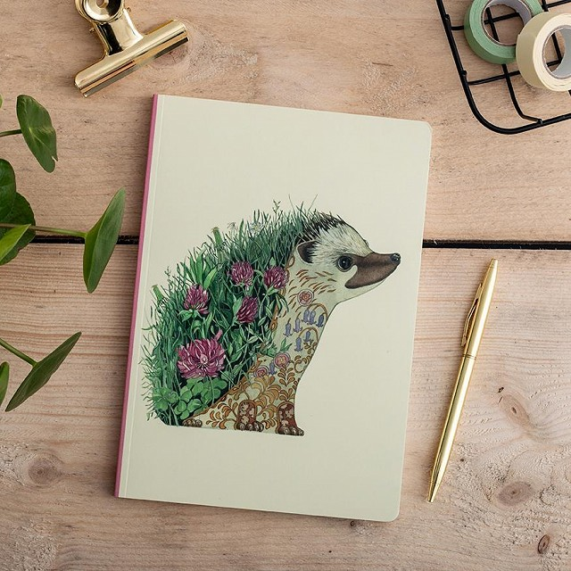 Hedgehog Notebook by Daniel Mackie