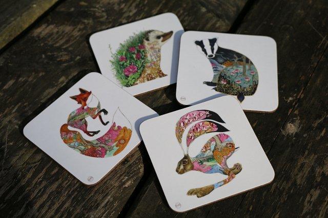 Mammal Coasters by Daniel Mackie