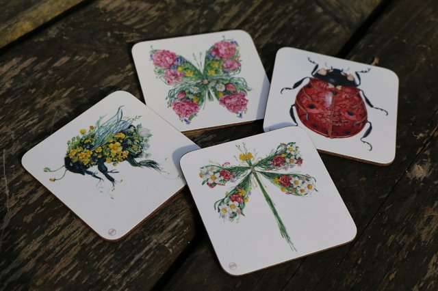 Insect Coasters by Daniel Mackie