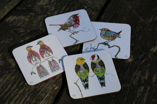 Bird Coasters by Daniel Mackie