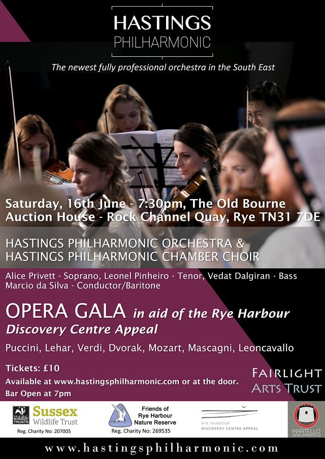 Opera Gala in aid of the Rye Harbour Discovery Centre Appeal