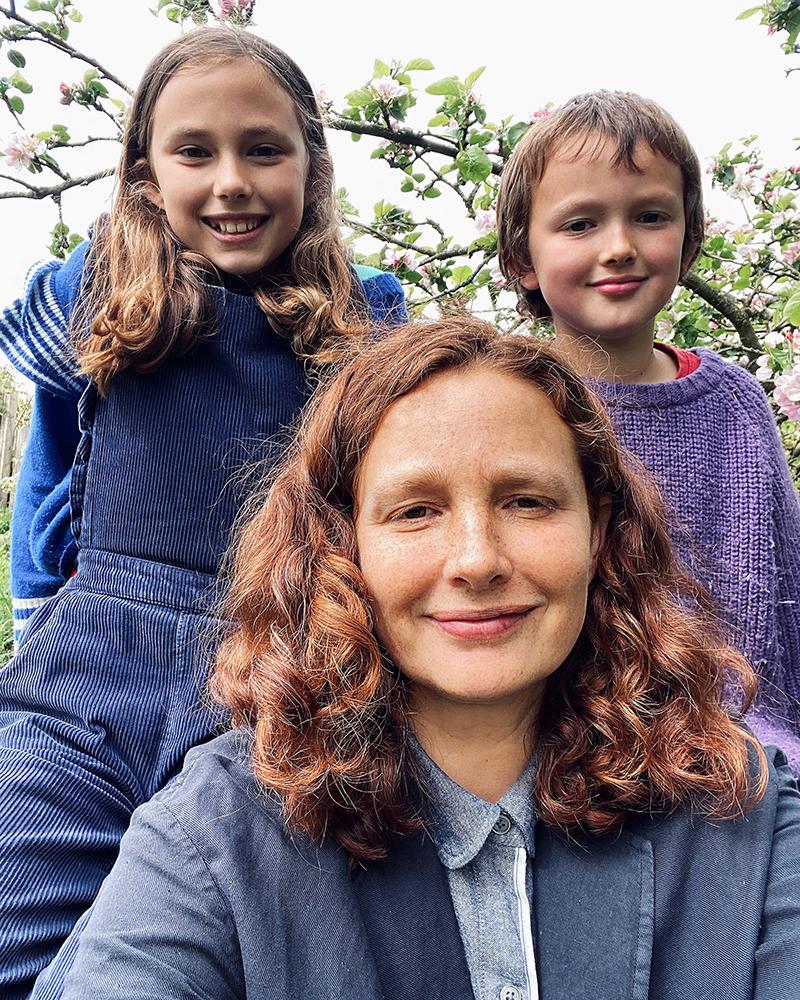 Kathryn Martin and children