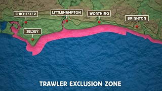 Sussex IFCA trawling exclusion zone