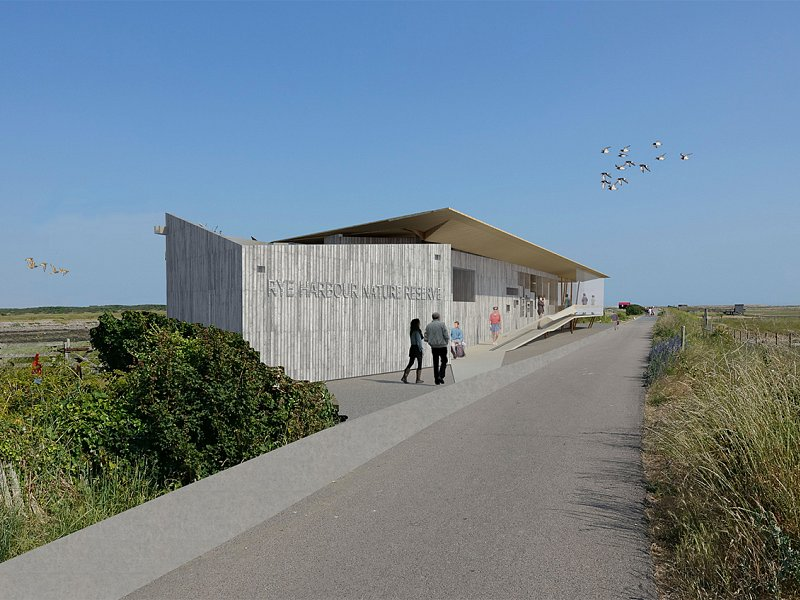 Artist's impression of the Rye Harbour Discovery Centre