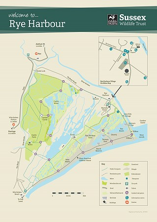Rye Harbour Nature Reserve lareg map