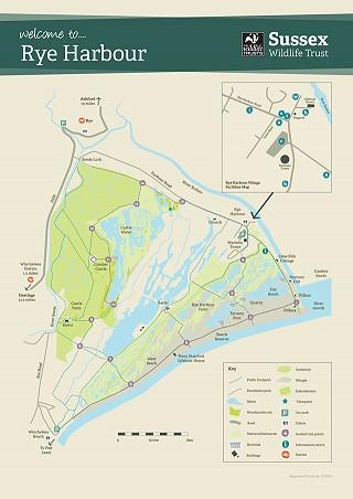 Rye Harbour Nature Reserve lareg map