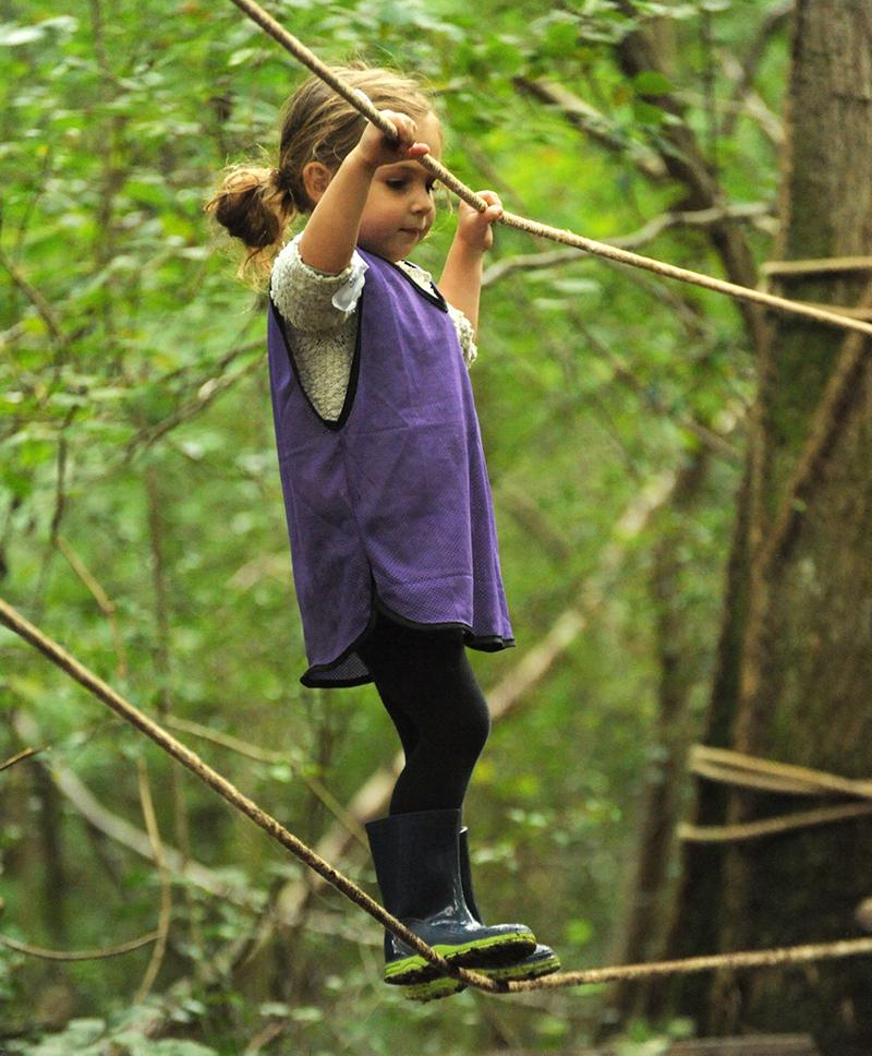 Risky Play©Miles DaviesSussex Wildlife Trust