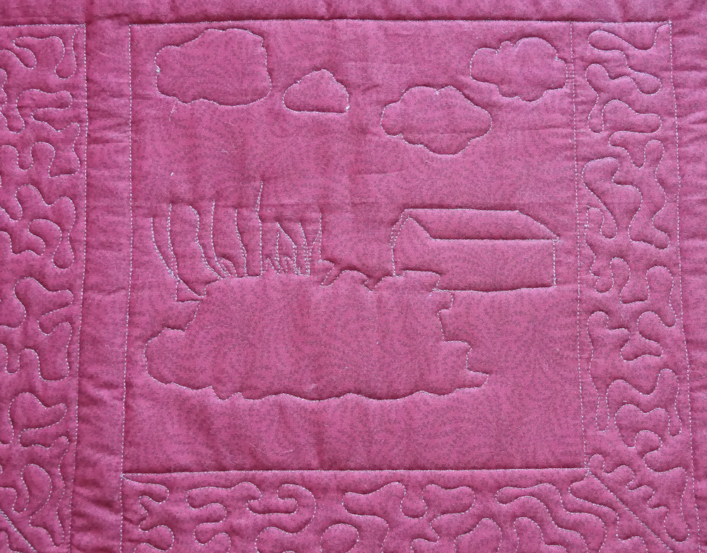 Rye Harbour quilt squares small reverse