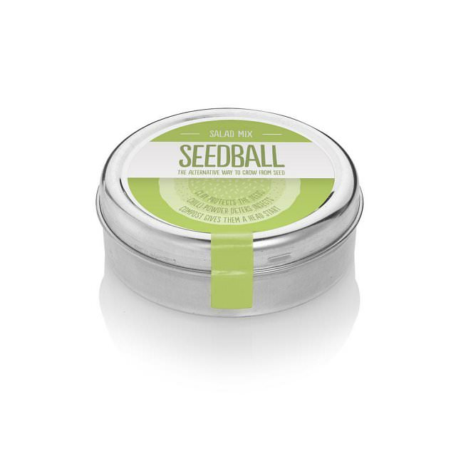 Wildflower Seedball tin - Salad Mix