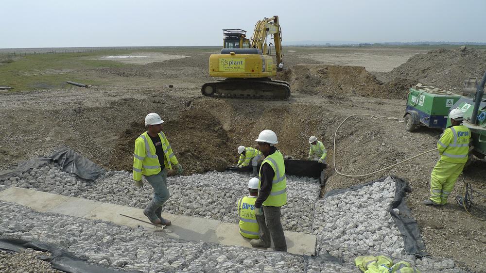 Saltmarsh culvert construction 2011