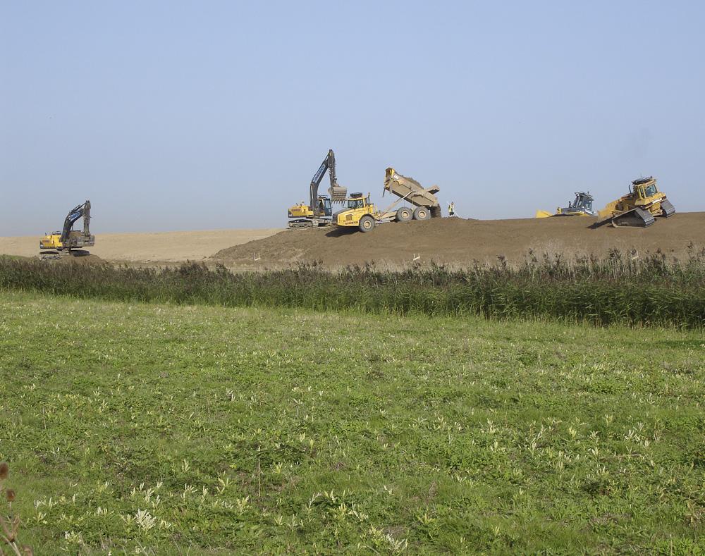 Sea defence construction 2006