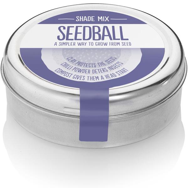 Wildflower Seedball tin - Shade Mix