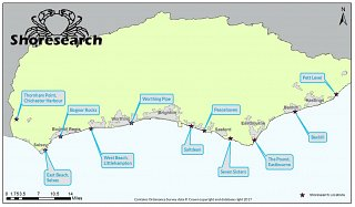 Shoresearch survey locations 2017