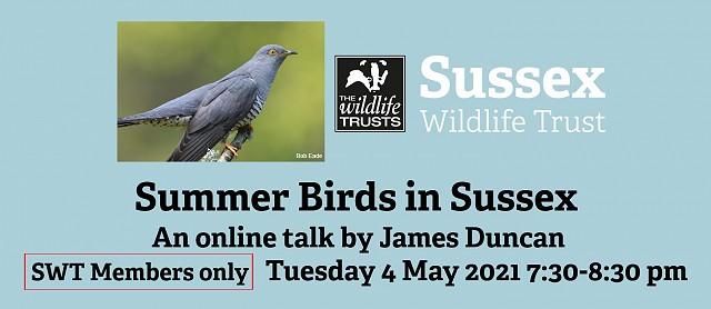 Summer Birds in Sussex - Members Only