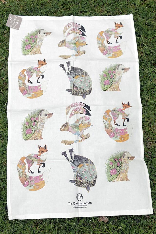 Animal Tea Towel by Daniel Mackie