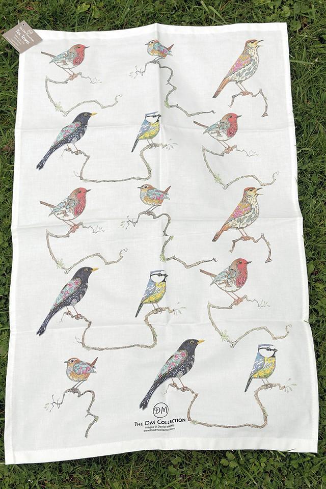 Songbird Tea Towel by Daniel Mackie