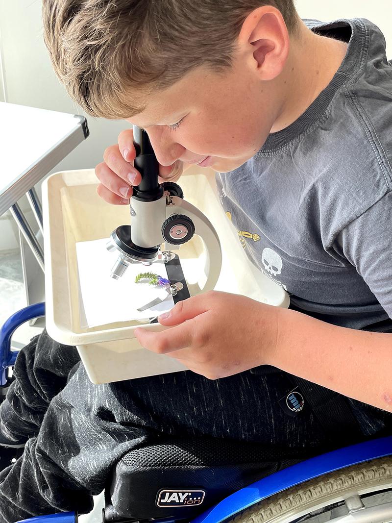 Web Haiden enjoyed using the microscopes IMG 2083