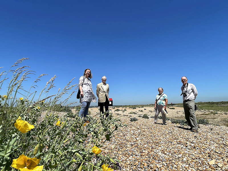 Web Lord Lieutenant and Lady Field  visit the Nature Reserve Rye Harbour IMG 6351